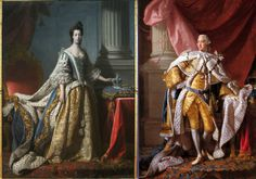Queen Charlotte (17) and King George (22) at the time of their coronation when the Dunmore first met them.