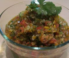 ~Tomatillo Salsa~  I am sure missing my CSA delivery and would love some tomatillos. You can still make this without tomatillos and replace with tomatoes. Farm fresh heirloom tomatoes are best, but not available to my knowledge this time of year.
