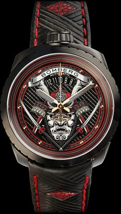 Top mens watches accessories Bomberg Bolt 68 Samurai Swiss made watches Fancy Watches, Dream Watches, Expensive Watches, Stylish Watches, Luxury Watches For Men, Cool Watches, Rolex Watches, Amazing Watches, Beautiful Watches