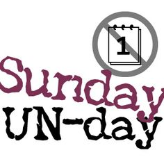 SUNDAY UN-day --> What can you un-calendar for the coming week? Make yourself more productive by taking something OFF your calendar that's not really important.    .::.   What can you un-calendar today?    Make Time. Enjoy Time. (from WeekDate)