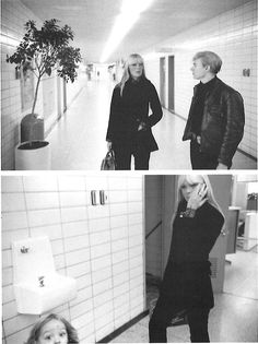 Nico and Andy Warhol in Scott Hall, Rutgers University, for a performance of The Exploding Plastic Inteviable (including the Velvet Underground). Andy Warhol Photography, Paint Photography, Stephen Shore, Chelsea Girls, Post Punk, Vintage Beauty, Pop Art, Black And White, The Velvet Underground
