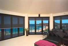 Blinds for over the bi fold doors Blinds Inspiration, Blinds For French Doors, Blinds Design, Folding Doors, Valance Curtains, Home Kitchens, New Homes, Home And Garden, Garden Photos