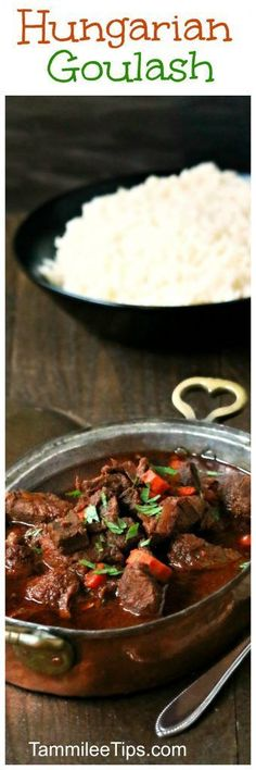 Easy Hungarian Goulash Recipe! The perfect comfort food recipe! Filled with meat, and so filling! Great Easy Dinner Recipe!