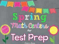 These ten math centers are a great way to prepare your students for their high-stakes test at the end of the year! These centers cover ALL of the third grade math Common Core Standards! Participating in these fun, spring-themed centers will make reviewing FUN for your students!
