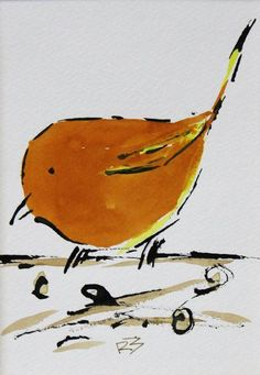 "For Sale: Watercolor birds by Richard McKey | 5"" x 7"" matted"