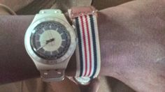 Got my rare vintage antiques on, Swatch Irony Aluminium Patented