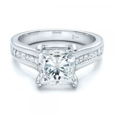 ***LOVE***Custom Channel Set Princess Cut Diamond Engagement Ring