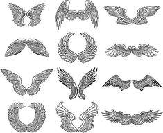 Drawings Drawings of Angel Wings to Inspire Your Angelic Art: Drawings of Angel Wings - Learn About Drawings of Angel Wings to Inspire Your Angelic Art Dark Angel Wings, Angel Wings Drawing, Art Sketches, Art Drawings, Drawings Of Angels, Wing Tattoo Designs, Wings Design, Angels And Demons, Angel Art