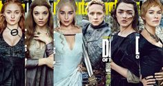 'Game of Thrones' Season 6 EW Covers Spotlight the Women of Westeros -- Emilia Clarke, Lena Headey, Maisie Williams, Sophie Turner, Gwendoline Christie and Natalie Dormer are featured in EW's 'Game of Thrones' covers. -- http://tvweb.com/news/game-of-thrones-season-6-entertainment-weekly-covers/