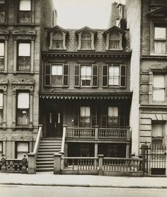 Harlem's oldest standing residential house, built in 1864. Photo 1932.