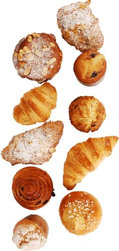 Brioches, pain au chocolat, croissants, almond croissants, pain au raisin, ... Francois Payard's bakery