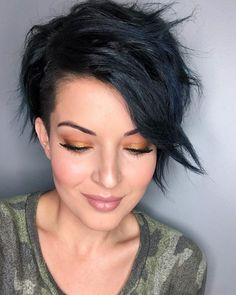 66 Best Pixie Cut Hairstyles For 2020 You Will Want to See Long Pixie Cut Thick Hair, Pixie Haircut For Thick Hair, Longer Pixie Haircut, Funky Pixie Cut, Dark Pixie Cut, Pixie Cut Color, Brunette Pixie Cut, Women Pixie Haircut, Shaggy Pixie Cuts