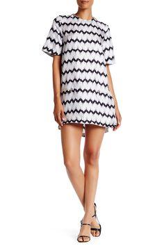 Short Sleeve Silk Dress