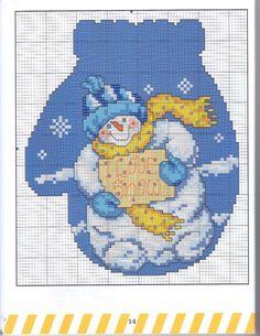 Gallery.ru / Фото #16 - 013 - anethka - snowman mitten 1
