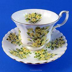 Royal Albert Springtime Series Primrose Tea Cup and Saucer Set
