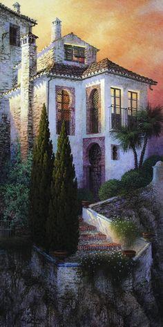 Прекрасная Испания в работах художника Luis Romero: alionushka1