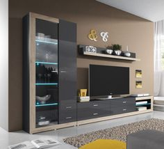 wall units modern oak - Buscar con Google