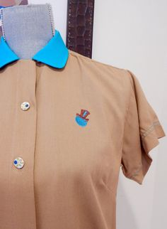 1950s Hilton Ladies Bowling Shirt Deluxe Fabric Super Cute