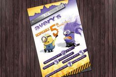 Despicable Me 5 Purple Evil Minion   Custom by BaybeeLoveBoutique, $13.99