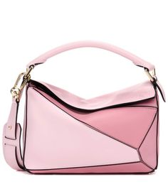 Ledertasche Puzzle Small in Pink, LOEWE