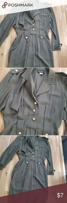 Vintage Military Style Dress -Reposh -Ships out tomorrow paul harris Dresses Midi