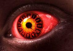 Red eye clock