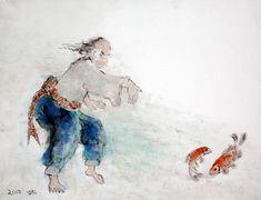 Assi Ben Porat. Needle at the sea bottom. Acrylic on canvas. 2003.