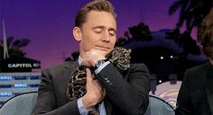 Tom Hiddleston on The Late Late Show with James Corden - April 2016. There's so much adorableness going on here, I love it!!