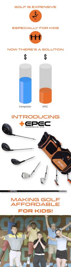 EPEC Upgradeable Junior Golf Clubs by DV8 Sports — Kickstarter