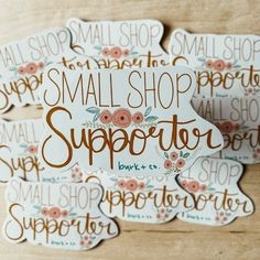 Sticker OR Magnet: Small Shop Supporter // Vinyl Sticker | Etsy Star Stickers, Bank Holiday, Magnets, Decal, Laptop, Place Card Holders, Personalized Items, Etsy, Shopping
