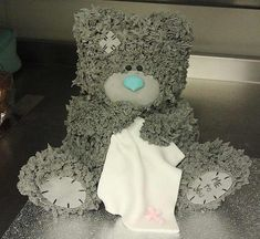 Sunday Sweets: April Showers - this worn stuffed animal idea is so sweet! I'd love to use my 3-D pans for this.