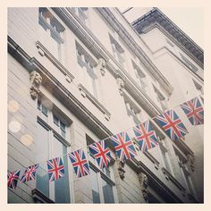 The Union Jack flags covering St.Christopher's Place look so cute at the mo!