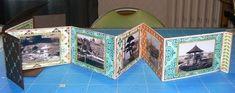 Mini-album accordéon aux pages reliées à son étui - tutoriel