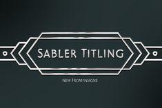 Sabler Titling by insigne on @creativemarket