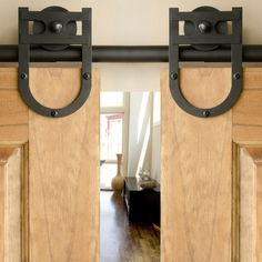 The Details Of This Black Lucky Charm Style Double Sliding Barn Door  Hardware Kit Will Add Character To Any Space In Your Home.
