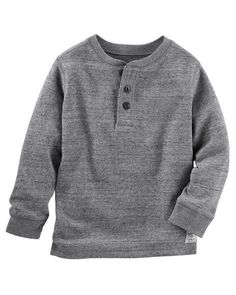 Baby Boy Thermal Henley from OshKosh B'gosh. Shop clothing & accessories…