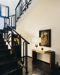 Frida Giannini's Rome apartment.  Railing.