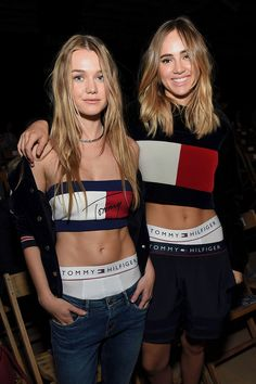 Suki and Immy Waterhouse were totally channeling the at Tommy Hilfiger's show, where they revealed the relatable reason they skipped breakfast. Imogen Waterhouse, Immy Waterhouse, Teen Vogue, Carolina Herrera, Lineisy Montero, Tommy Hilfiger Fashion, Holiday Outfits, Her Style, Front Row