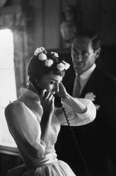 Special Moments...Audrey Hepburn at her 1954 wedding to Mel Ferrer.
