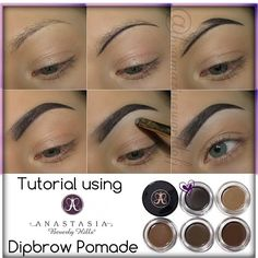 Anastasia Dip Brow Tutorial---Best Brow Filler Ever! Anastasia Dip Brow Tutorial---Best Brow Filler Ever!My fav filler! If you can get your hands on it then do it! It sells out everywhere constantly ! It is So easy to work with, great staying power and l Eyebrow Makeup Tips, Skin Makeup, Eyeshadow Makeup, Makeup Eyebrows, Eye Brows, Revlon Makeup, Blue Eyeshadow, Eyeshadow Palette, Tweezing Eyebrows