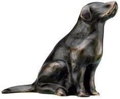 """Bronze-Skulptur """"Retriever"""" von Mechtild Born (2012) - Hannover - Skulpturen › Kunstplaza, http://www.kunstplaza.de/online-galerie/"""