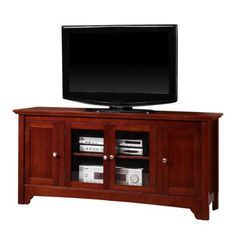 "52"" Solid Hard Wood TV Media Stand Console , Cherry"
