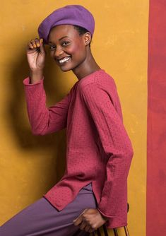 Express yourself with our collection of eco-friendly, quirky tops and jumpers; bursting with color. Always ethically sourced, always top quality. Discover more here.