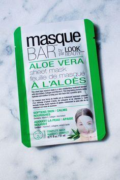 Masque Bar by Look Beauty Aloe Vera Sheet Mask http://beautyeditor.ca/2016/02/11/best-sheet-masks