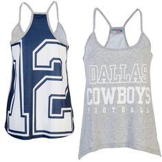 NFL Dallas Cowboys Women's Allred Tank Top ΓÇô Gray
