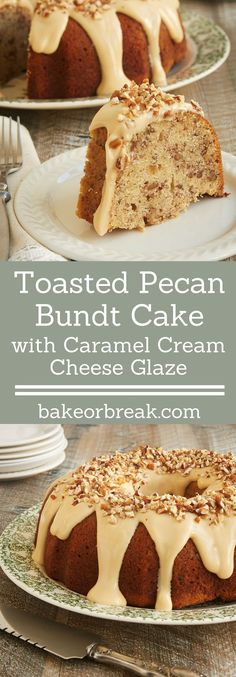 Toasty nuts, lots of brown sugar, and a sweet glaze combine to make this fantastic Toasted Pecan Bundt Cake. A must for pecan lovers! - Bake or Break ~ http://www.bakeorbreak.com
