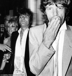 Moves like Jagger: Jo and Ronnie with Mick Jagger on his 39th birthday