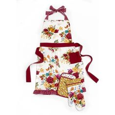 Pioneer Woman Timeless Floral Kitchen 3-Piece Set: Includes Apron, Oven Mitt, and Potholder - Walmart.com