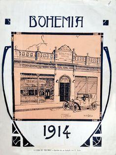 La casa de Bohenia. Apuntes de la fachada, 4 de enero de 1914