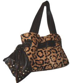 4135352e460e14 Roberta Gandolfi Italy Genuine Brown Leather leopard spot Pony Calf hair  handbag  AuthenticROBERTAGANDOLFIluxurydesignersatchel  ShoulderBag   ...